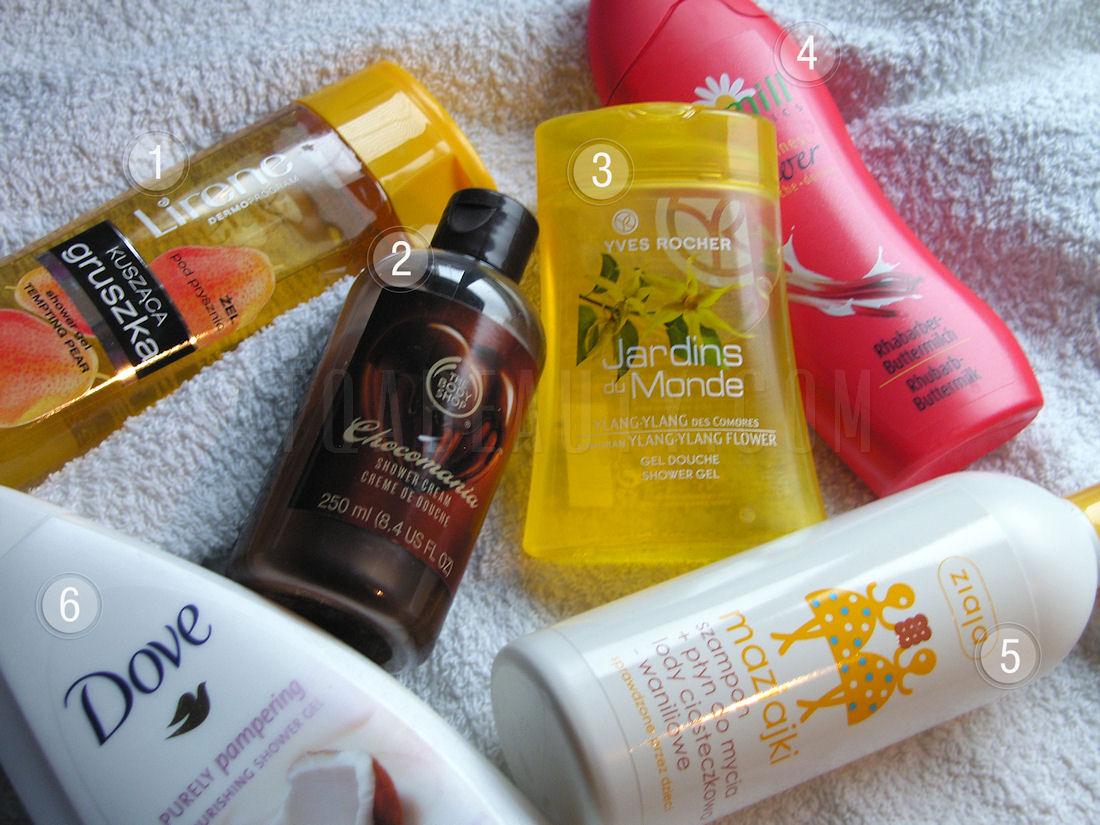 Pielęgnacja :: Prysznicowe pachnidła <br>(Lirene, The Body Shop, Yves Rocher, Dove, Kamill, Ziaja)