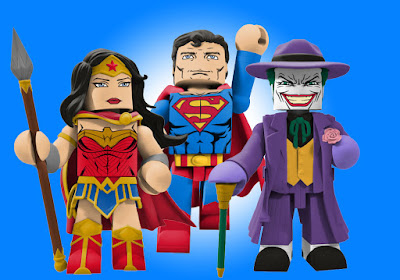 DC Comics Vinimate Series 2 Vinyl Figures by Diamond Select Toys - Wonder Woman, Superman & The Joker