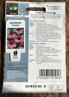 How to Sow Seeds for Absolute Beginners. Back of seed packet detailing sowing instructions
