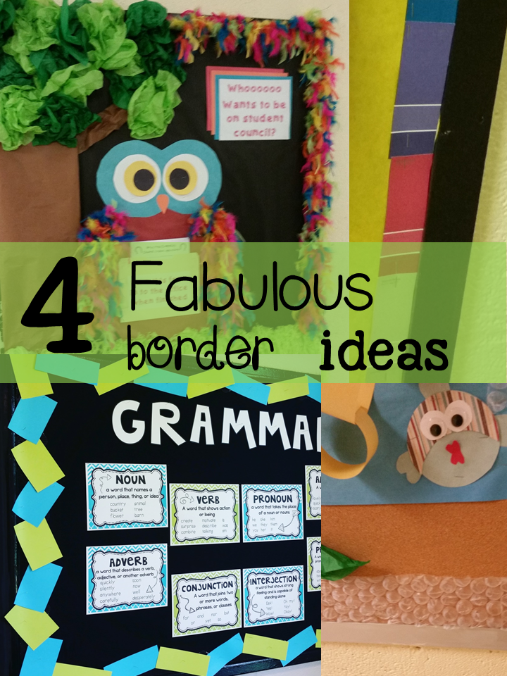 Teaching Fourth: Four (Plus) Fabulous Bulletin Board Border ...