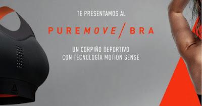 Reebok presenta el top deportivo Puremove con tecnología de Movimiento.
