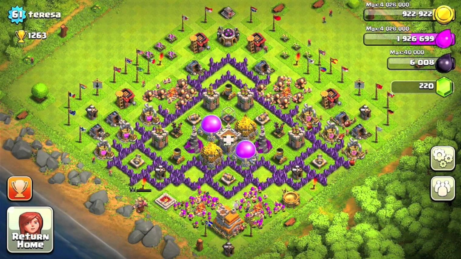 clash of clans best defense town hall 7 farming