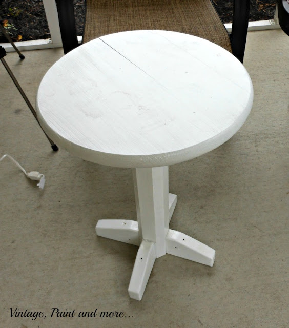 Vintage, Paint and more... DIY wood table