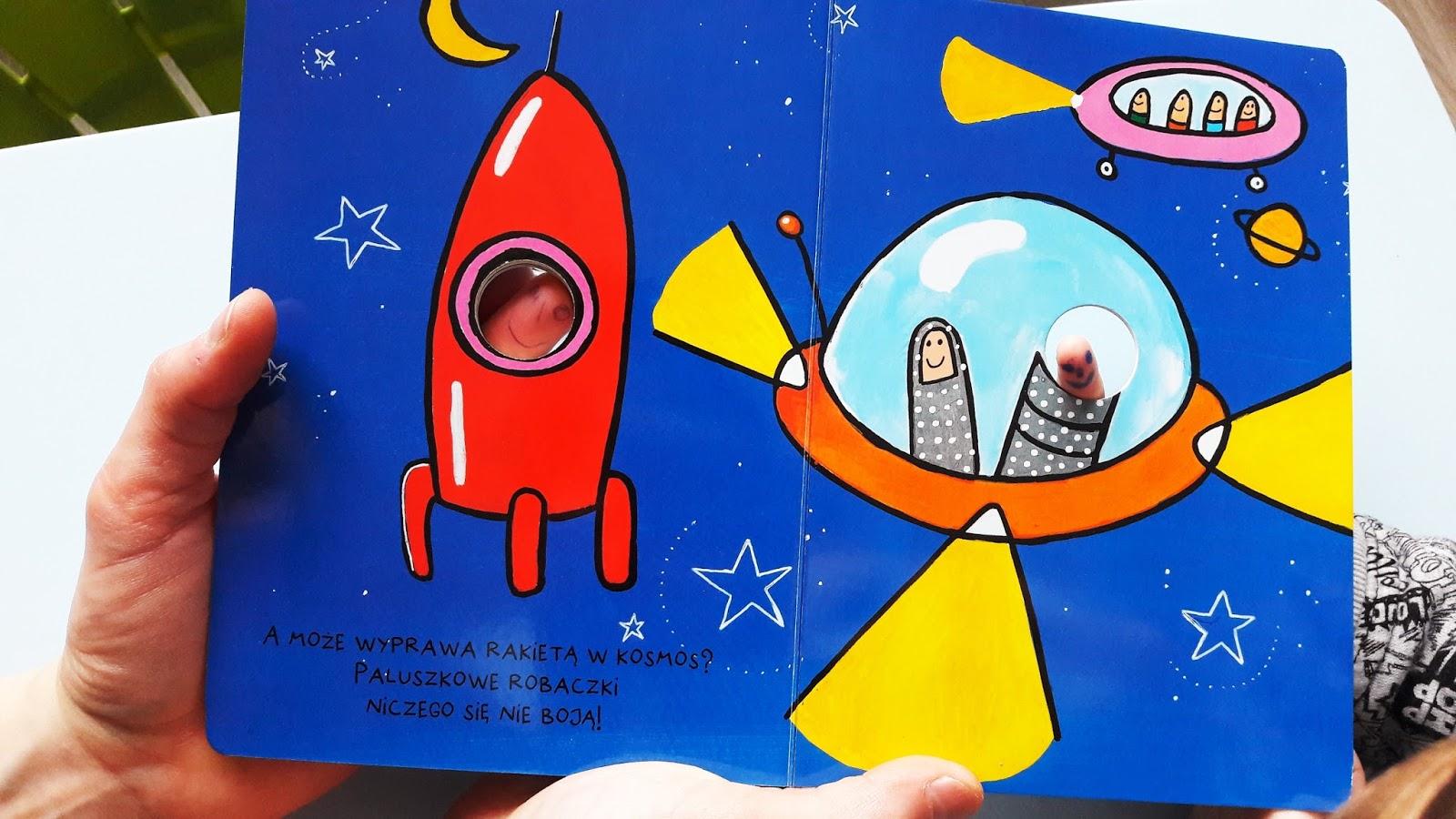 paluszkowa wyprawa robaczki Hervé-Tullet - wydawinctwo insignis - lecimy w kosmos. rakieta i ufo