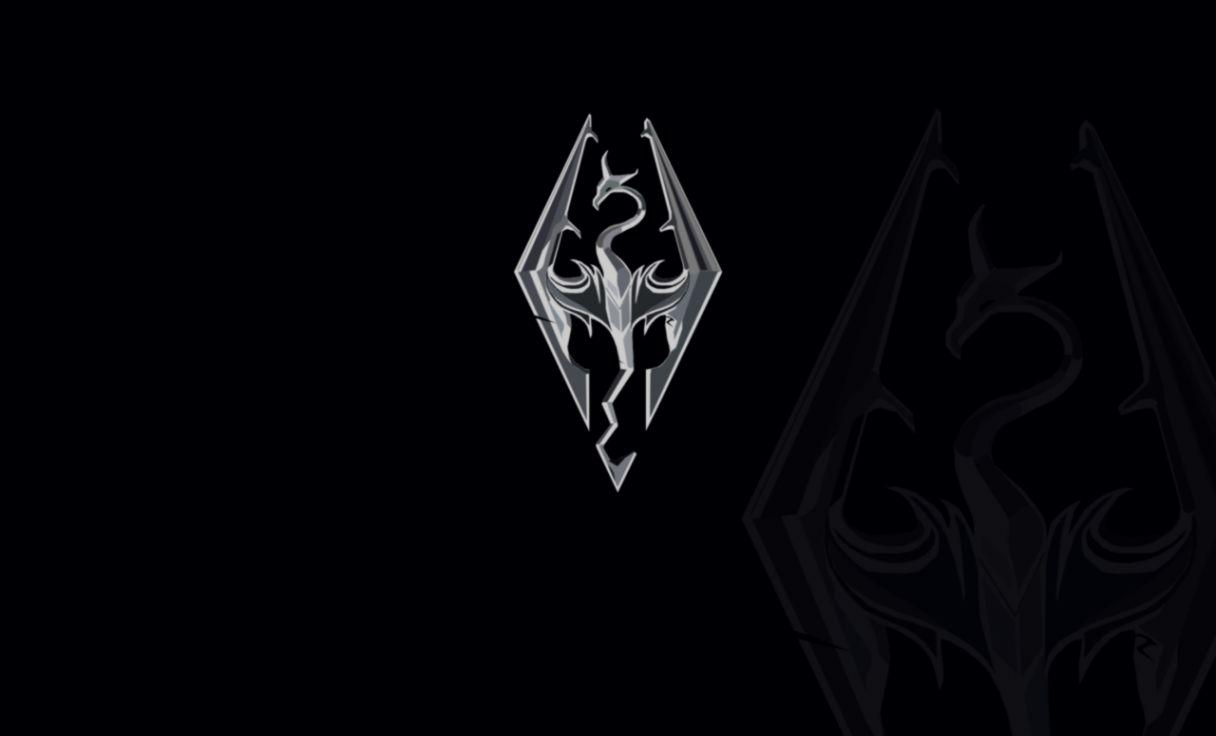 Skyrim Logo Black Wallpaper Mocihada