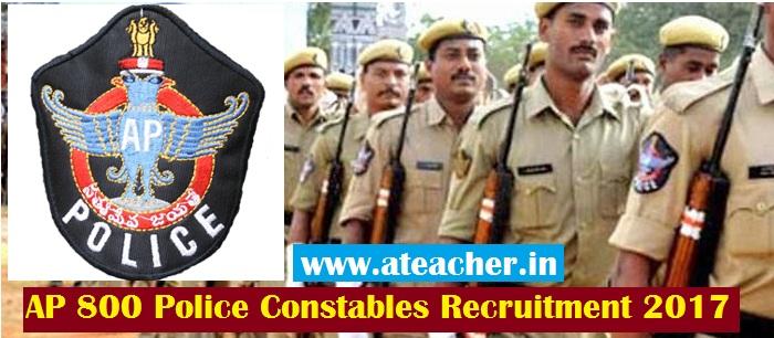 Andhra Pradesh 800 Police Constables Recruitment 2017