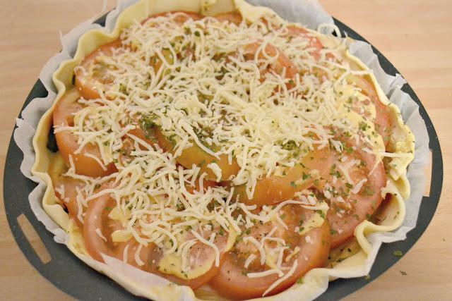 Recette, tarte tomate, végétarien