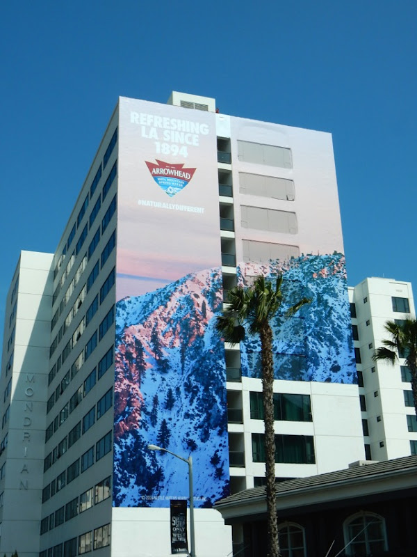 Giant Refreshing LA since 1896 arrowhead billboard