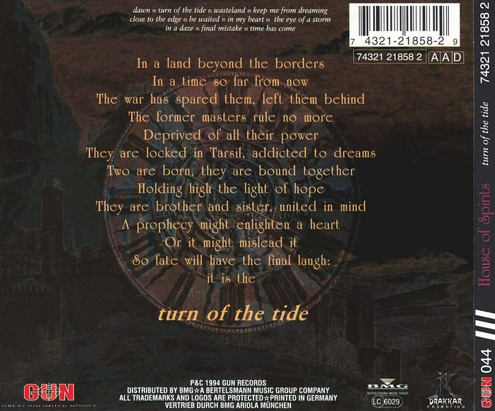 HOUSE OF SPIRITS - Turn Of The Tide (1994) back