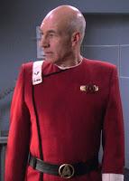 "TWOK-era ""Monster Maroon"" uniform worn by Ensign Picard"