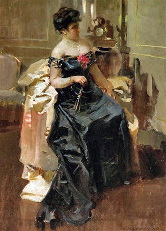 Dama con abanico, Enrique Martínez Cubells, Mujeres bretonas, Pintor español, Pintores españoles, retratos de Enrique Martínez Cubells, Pintores Valencianos