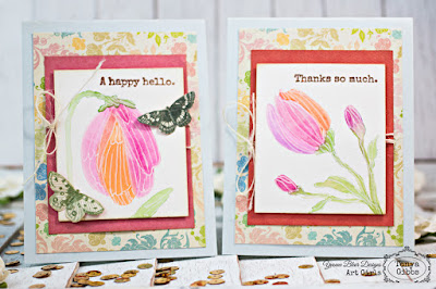 Watercolor Cards by Tonya Gibbs for Yvonne Blair