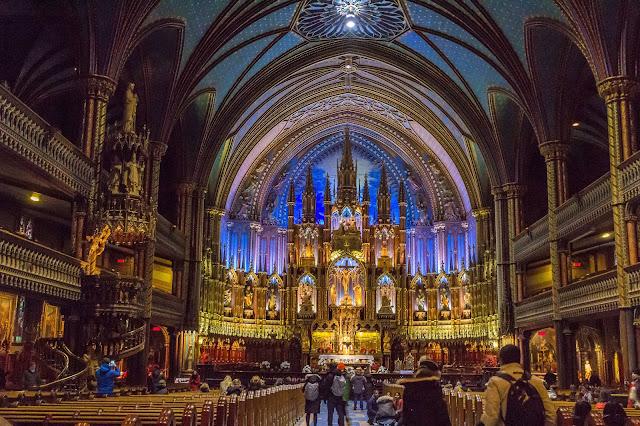 Basilica Notre-Dame in Montréal, Canada