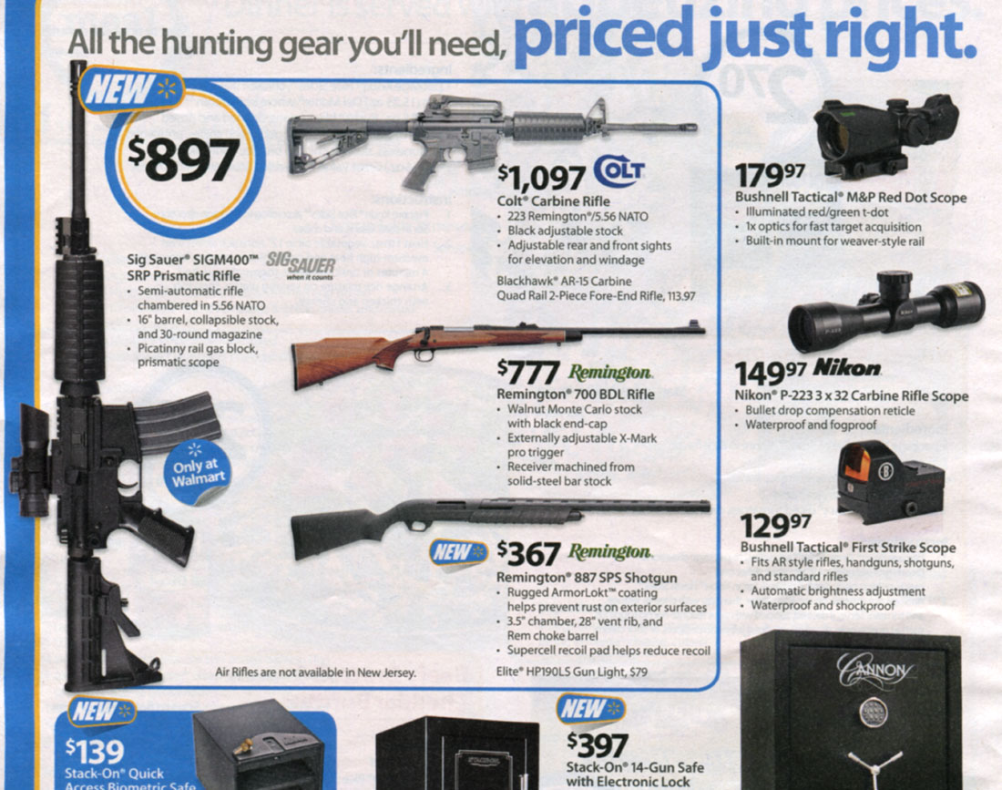 as i see it a farewell to arms 27704 21035 20102 27494 22120  wal mart sells socks soap bars and semi automatic rifles
