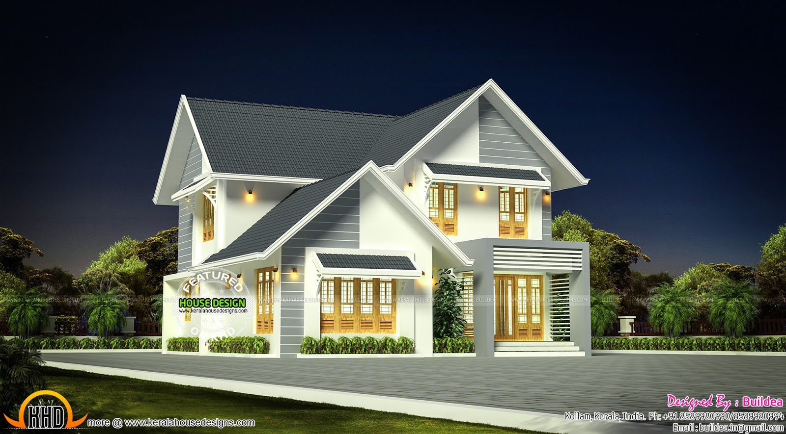 4 bhk home in 1900 sq ft kerala home design and floor plans for 4 bhk house plan ground floor