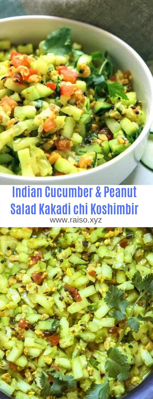 Indian Cucumber & Peanut Salad Kakadi chi Koshimbir