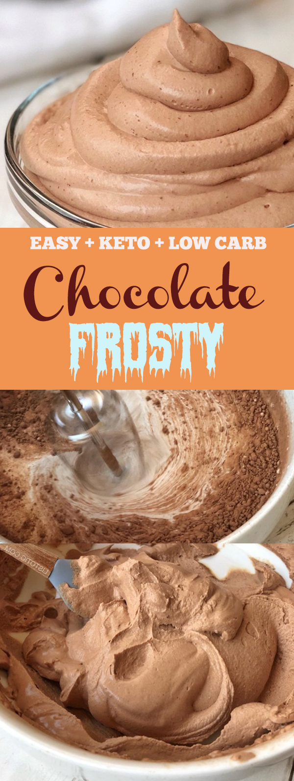 Easy Keto Chocolate Frosty - Keto & Low Carb #ketochocolate #chocolate #icecream #lowcarb #easychocolate #ketodessert #lowcarbdessert #easydessert