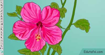 Cara menggambar bunga di photoshop