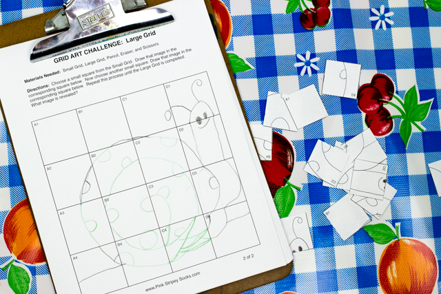 Mystery Grid Art Challenge- In this fun STEAM activity, players use their art and math skills to recreate a mystery image bit-by-bit.