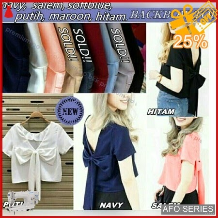 AFO114 Model Fashion Backbow Top Modis Murah BMGShop