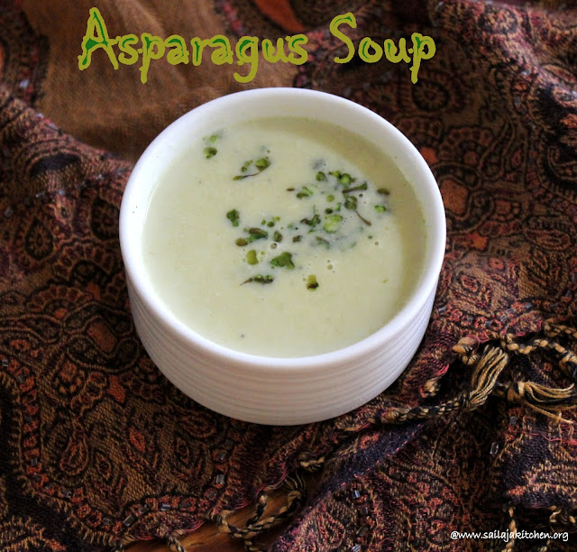 images of  Asparagus Soup / Cream of Asparagus Soup Recipe / Easy Cream of Asparagus Soup Recipe - Healthy Soup Recipes