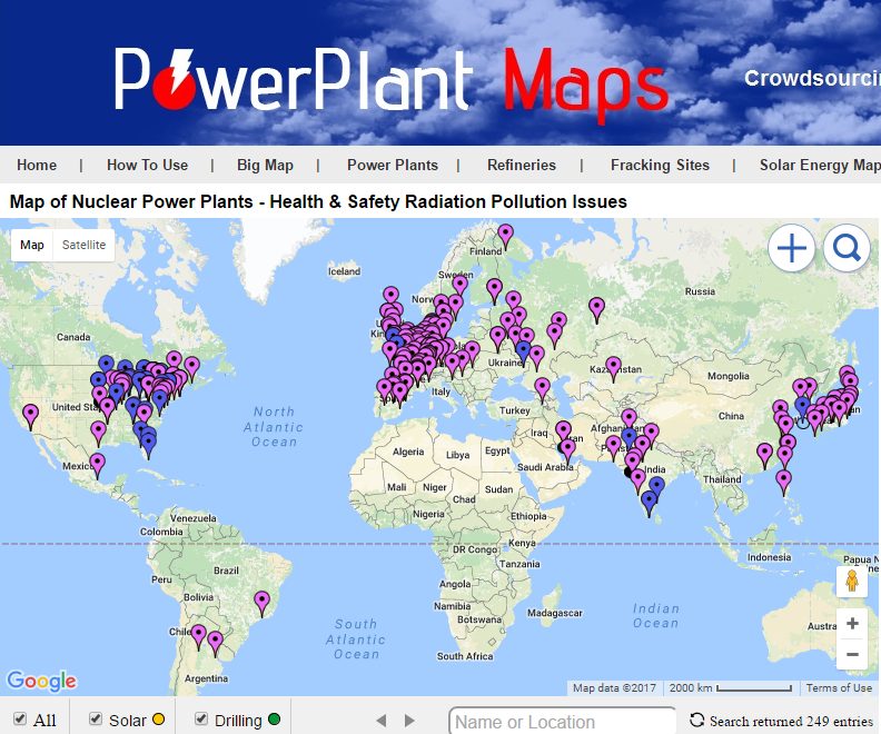 Power Plant Maps - Map of all nuclear power plants in the us