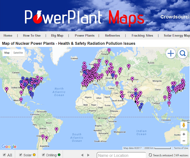 map of nuclear power plants worldwide