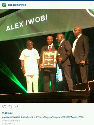 Ihenacho and Iwobi, Super Falcons won big at yesterday's Glo Caf Award (PHOTOS)