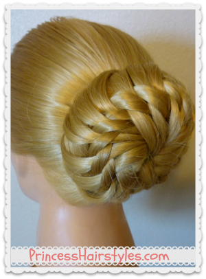Star Flower Bun, Wedding Hairstyle