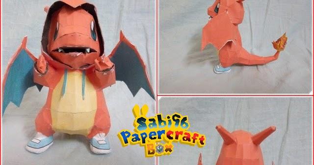 Pokemon Charmander In Charizard Costume Papercraft