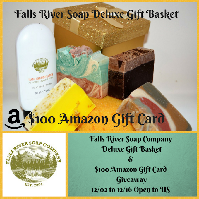 Falls River Soap Company Deluxe Gift Basket & $100 Amazon Gift Card Giveaway