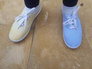Dip Dyed tennis shoes