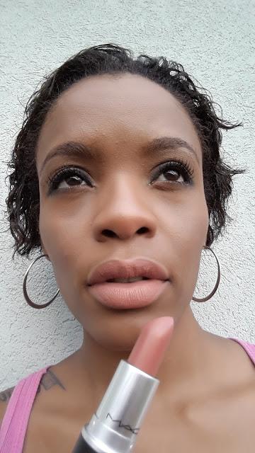 M.A.C matte lipstick 'Pander Me' swatch www.modenmakeup.com