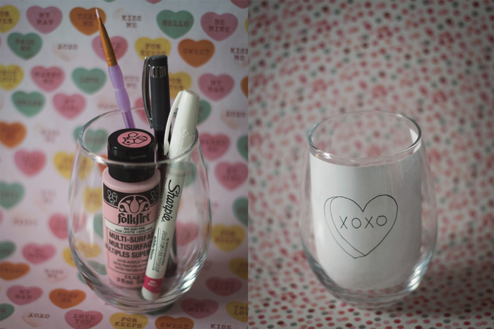 Valentine's Day Gifts, What to Give for Valentine's Day, DIY Travel Coffee Mug, Conversation Hearts, DIY Wine Glass, DIY Blogger, Lifestyle Blogger, College Blogger, DIY Gifts, DIY Gift Set, Inexpensive Gift Ideas