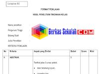Format Penilaian Penelitian Tindakan Kelas (PTK)