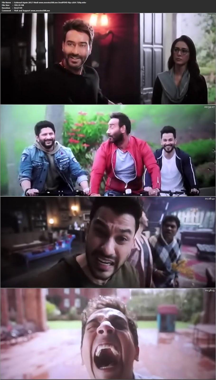 Golmaal Again 2017 Hindi DesiPDVD Rip MP3 X264 720p at movies500.me