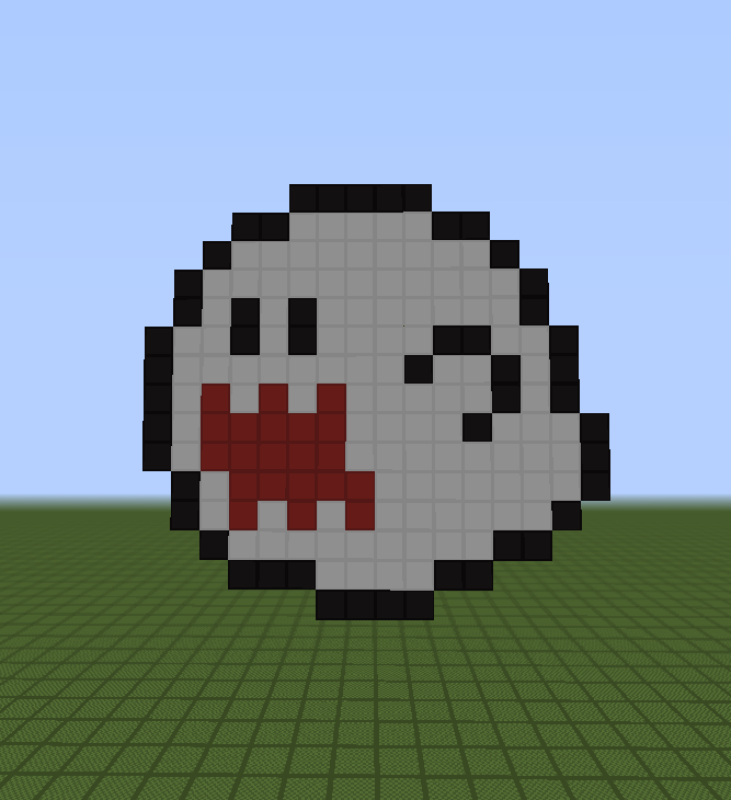 Minecraft Pixel Art Helper Boo From Mario