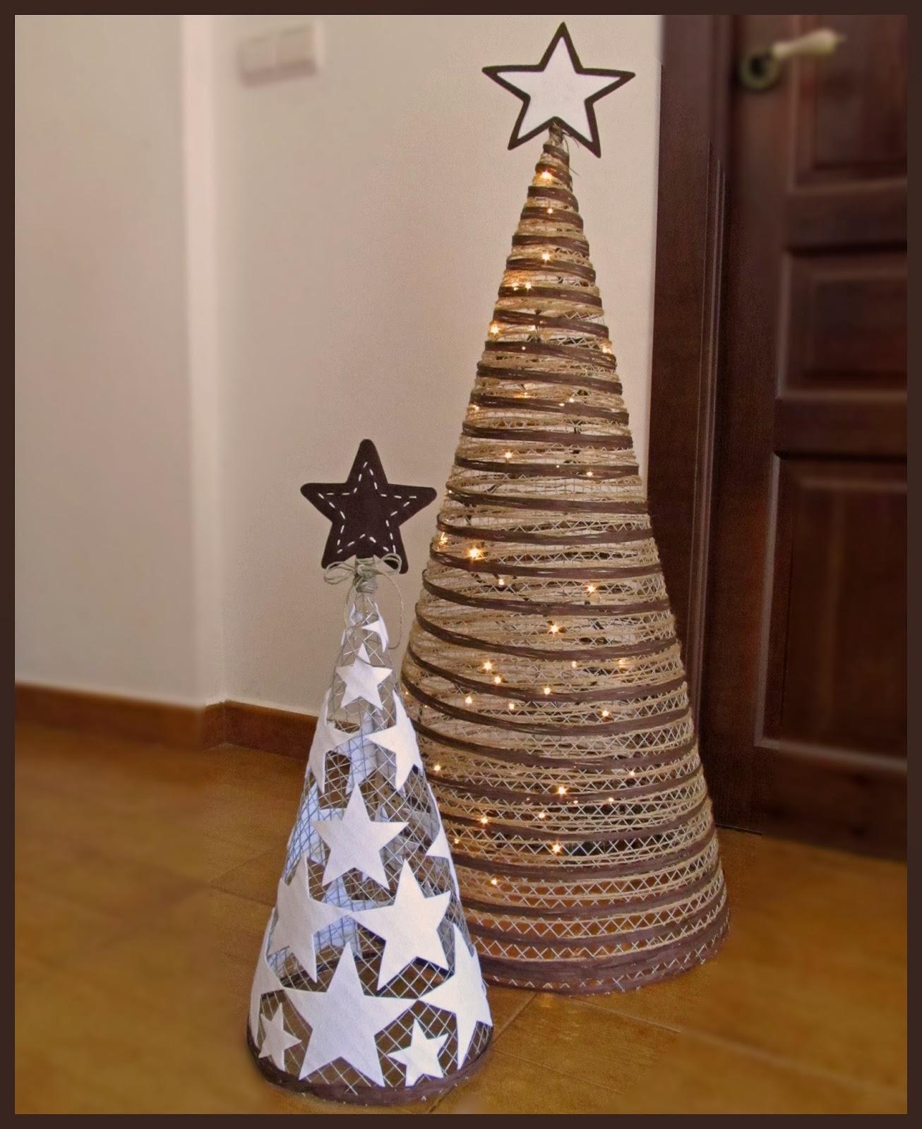 Como hacer arbol de navidad con alambre