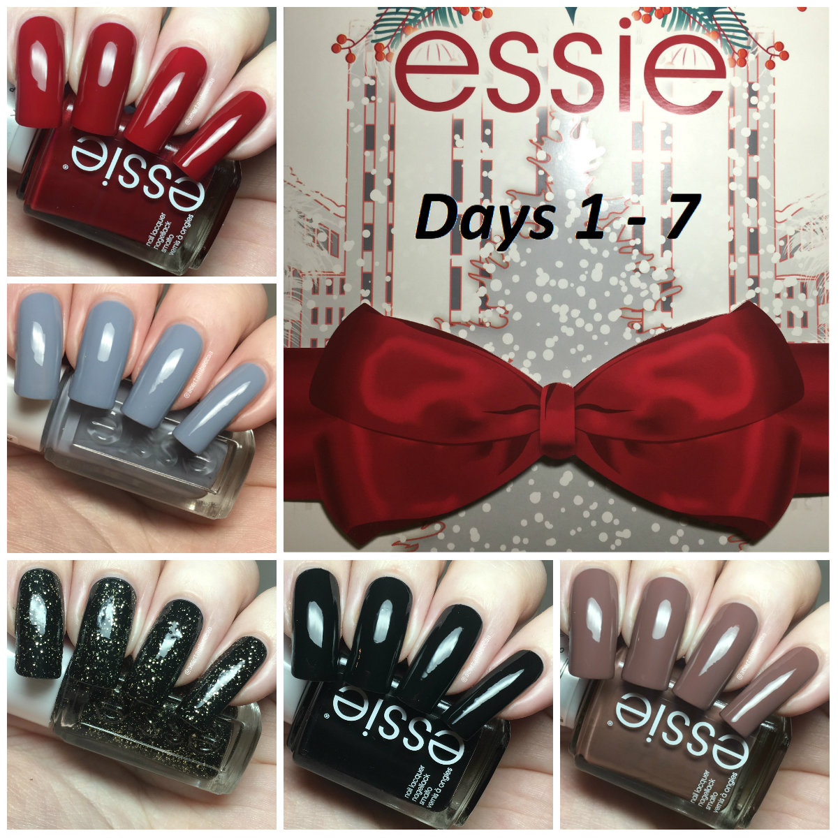 A Certain Becca Nails: Essie Advent Calendar 2017 - Days 1-7