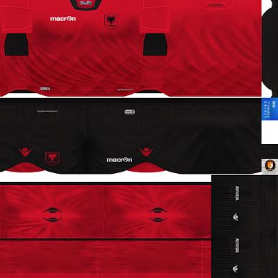 PES 6 Kits Albania National Team Season 2018/2019 by WindowOp