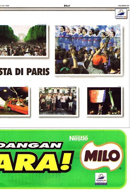 PESTA PRANCIS JUARA PIALA DUNIA 1998