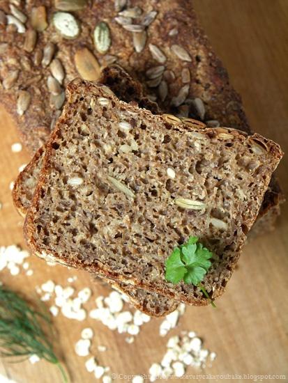 chleb wieloziarnisty żytni na zakwasie