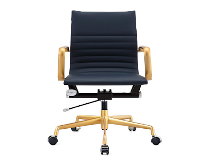 Meelano 348-GD-NVY 348-GD-NVY-N Office Chair