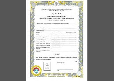 Download Juknis Pengisian/Penulisan Ijazah SMA/SMALB 2019 Pdf