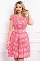 Rochie de vara roz cu imprimeu si buzunare laterale • Xara