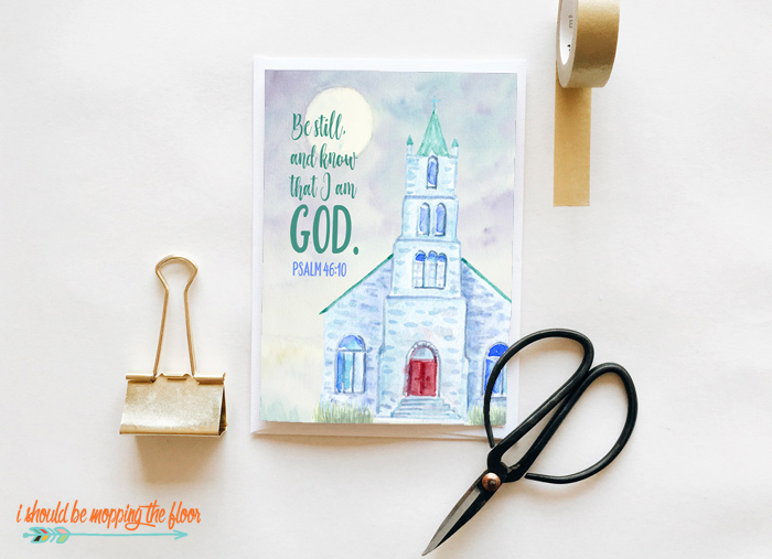 Printable Scripture Greeting Card