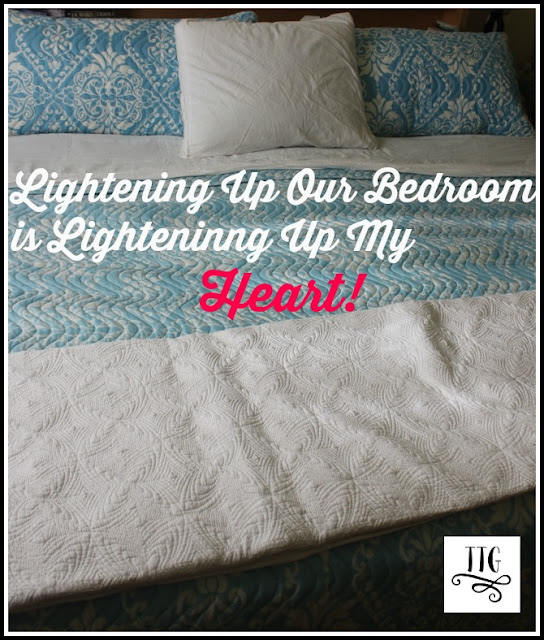 lightening up our bedroom decor is doing wonders for how i feel inside!