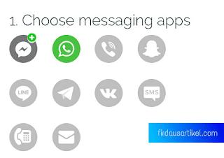 Langkah 1 memasang widget live chat WhatsApp
