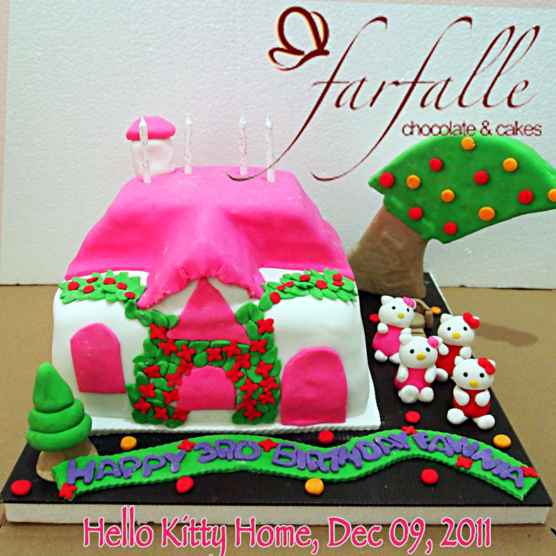 Farfalle Chocolate Amp Cakes 3d Hello Kitty House