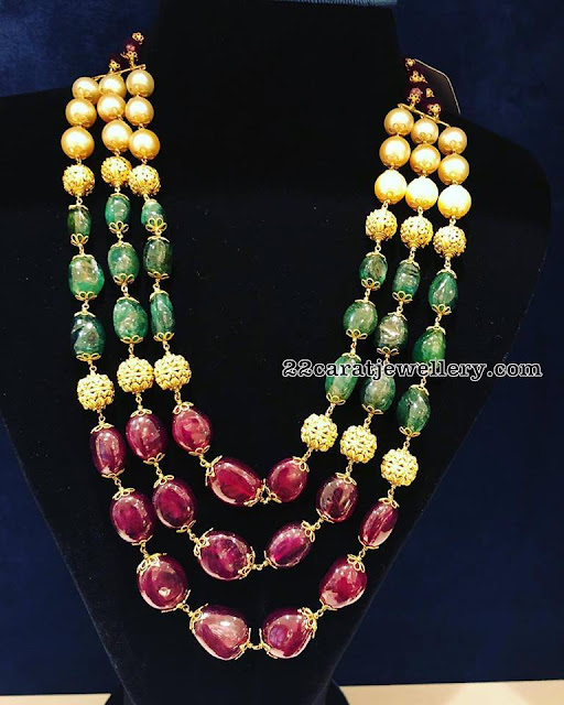 Beads and Polki Necklaces by Sukratej